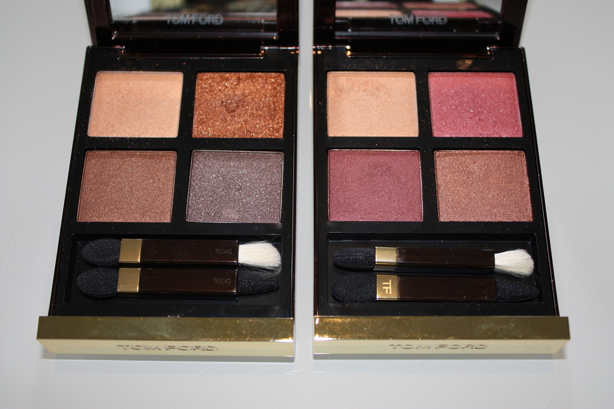 Tom Ford Quad swatches: Cognac Sable & Burnished Amber
