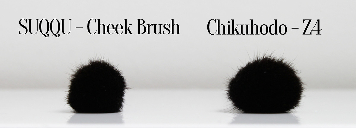 Chikuhodo Z4 versus SUQQU Cheek Brush