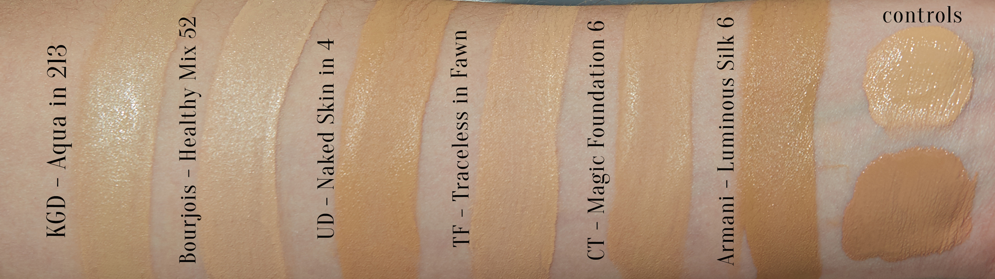 Olive Foundations & Swatches